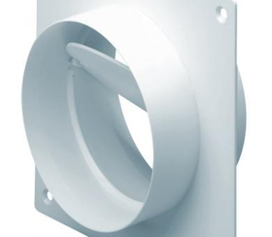 EasiPipe 150 Rigid Duct Straight Duct Connector and Wall Plate