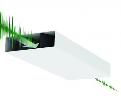 Sound Attenuator Microban Protected 204X60mm
